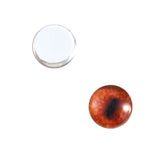 8mm red fox glass eyes