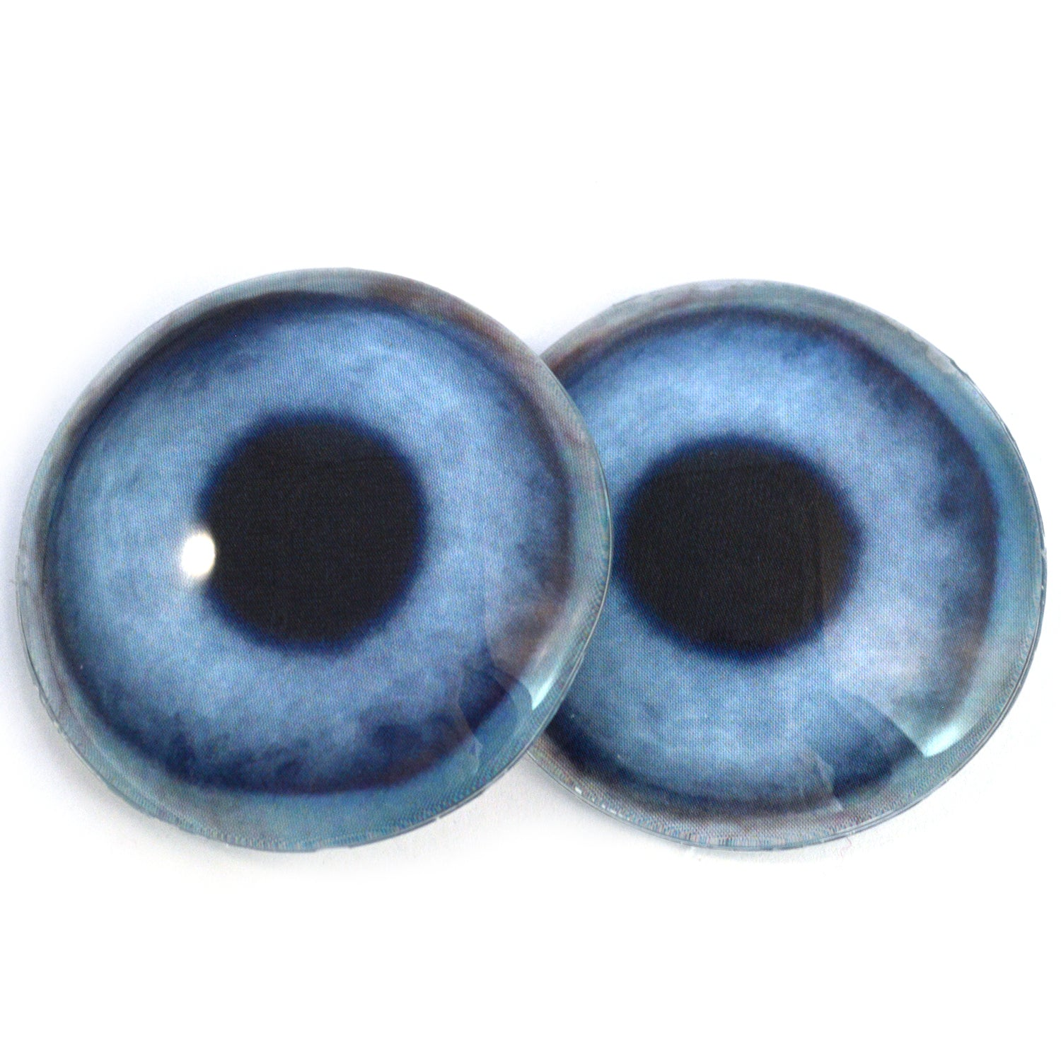 Pair of 25mm Blue Dog Glass Eyes for Jewelry Pendants or Taxidermy Doll Making