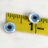 10mm Blue Human Glass Eyes with Whites