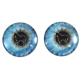 blue unicorn glass eyes