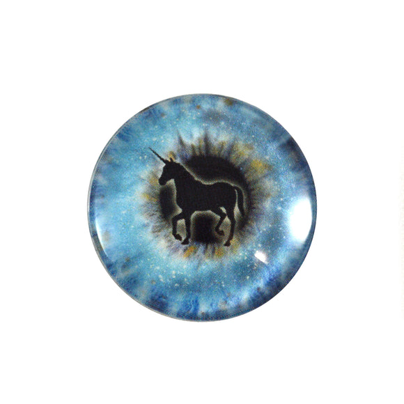 blue unicorn glass eye
