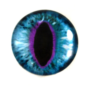 Blue and Purple Cat Glass Eye