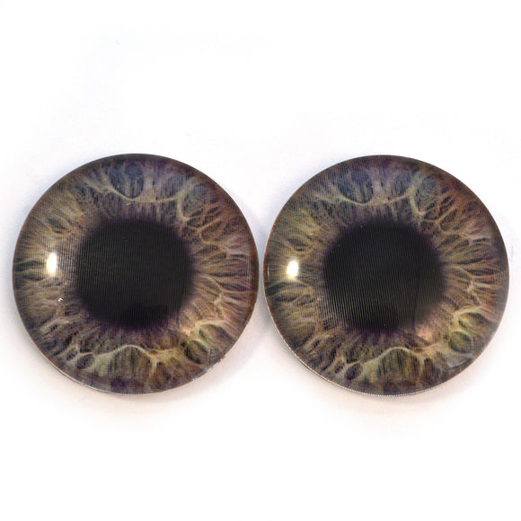 30mm Gray and Brown Color Changing Animated Human Glass Eyes