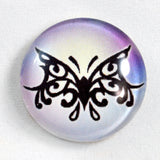 Tribal Purple Butterfly Glass Cabochon