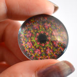 Colorful Kaleidoscope Animated Glass Eyes
