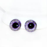 16mm Purple Fantasy Glass Eyes with Yellow