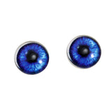 Dark Blue Anime Glass Eyes with Whites