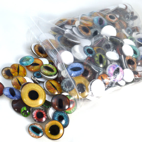 Overstock Bulk Lot 1 Pound Mixed Glass Eyes