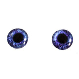 violet blue glass eyes