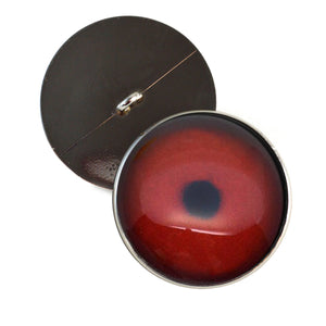 Sew On Buttons Dark Red Loon Bird Glass Eyes