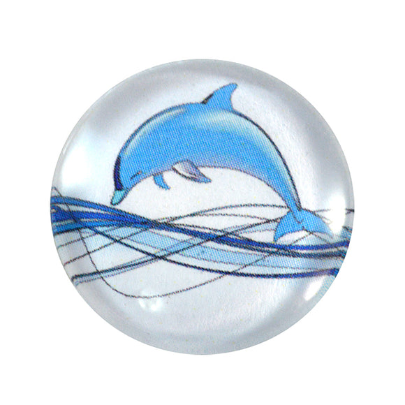 Dolphin Glass Cabochon