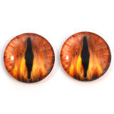 Flaming Fire Animated Dragon Glass Eyes