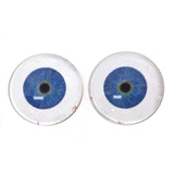 Extraterrestrial Blue Alien Glass Eyes with Whites
