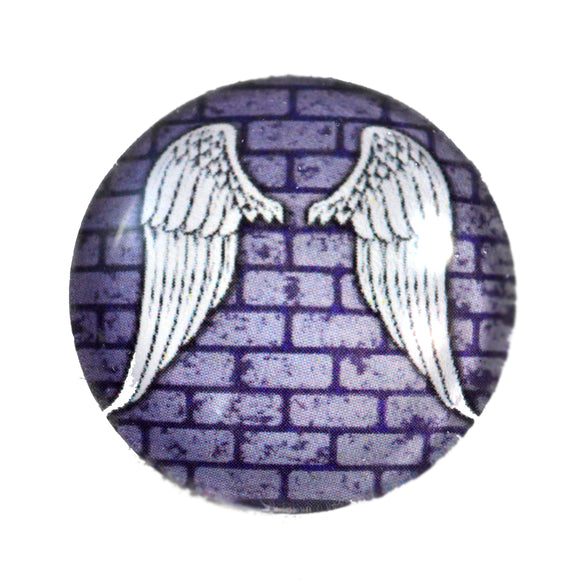 Gothic Angel Wings Glass Cabochon