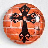 Gothic Cross Glass Cabochon