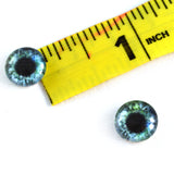 10mm Green and Blue Human Glass Eyes
