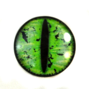 Green Grunge Dragon Glass Eye