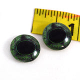 16mm Green Frog Glass Eyes