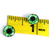 10mm Intense Green Human Glass Eyes