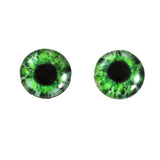 Intense Green Human Glass Eyes