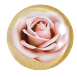 Light Pink Rose Glass Cabochon