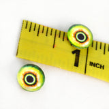 10mm Green and Yellow Monster Glass Eyes