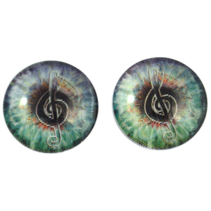 Music Lover Animated Glass Eyes