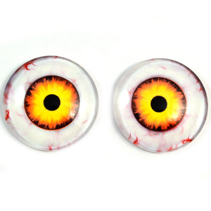 Nightmare Clown Yellow and Orange Glass Doll Eyes