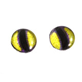 Purple and Yellow Stylized Octopus Glass Eyes