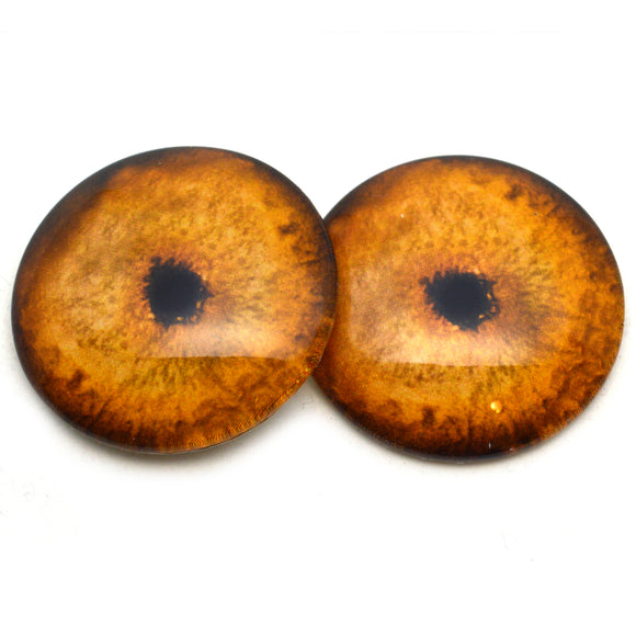 Orange Tiger Glass Eyes