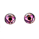 Pink Butterfly Glass Eyes