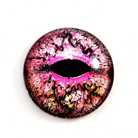pink lizard glass eye