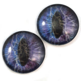 Purple Lightning Storm Animated Dragon Glass Eyes