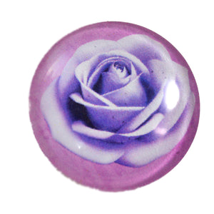 Purple Rose Glass Cabochon