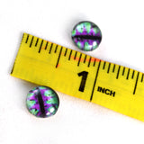 10mm Green and Purple Fantasy Dragon Glass Eyes