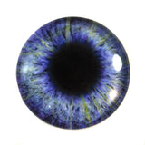 Purple Fantasy Glass Eye with Yellow