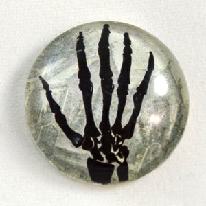 Skeleton Hand Halloween Glass Cabochon