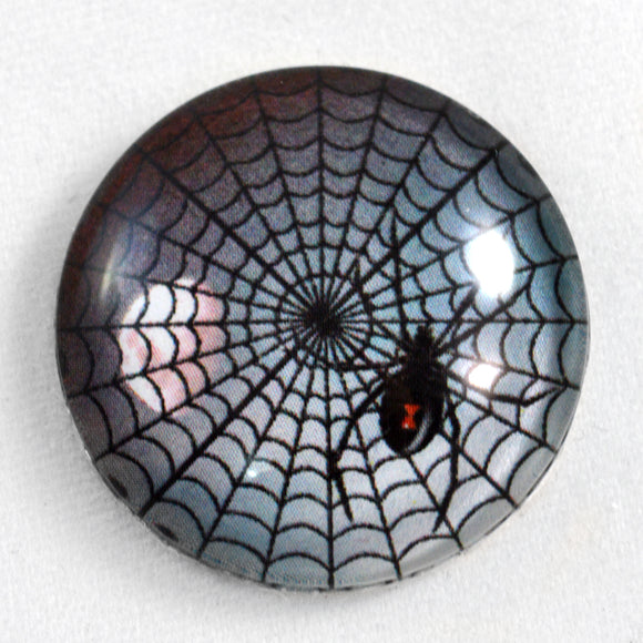 Scary Spider Glass Cabochon
