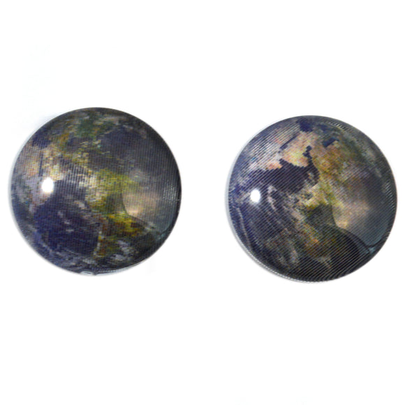 Spinning World Animated Earth Cabochon