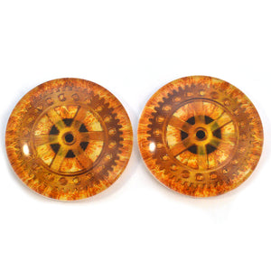 Rotating Gear Steampunk Animated Glass Eyes