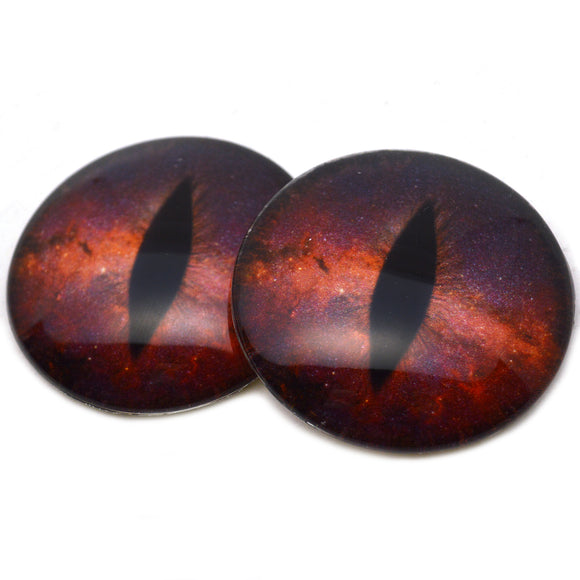 Striking Red Galaxy Dragon Glass eyes