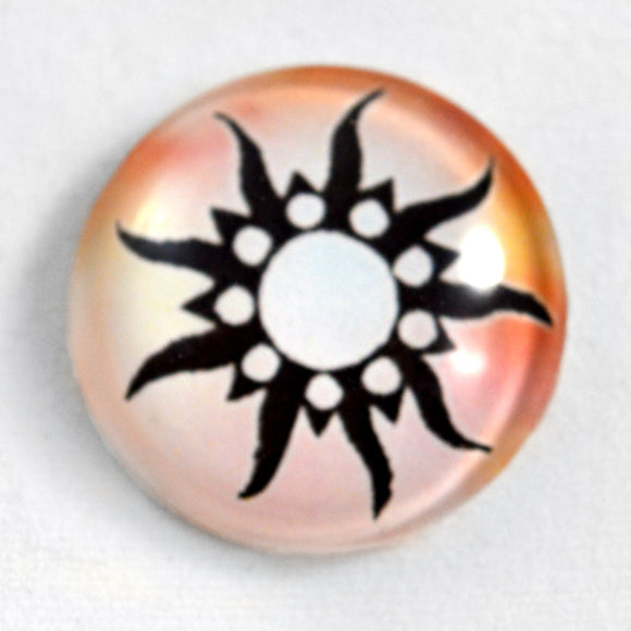 Tribal Sun Glass Cabochon
