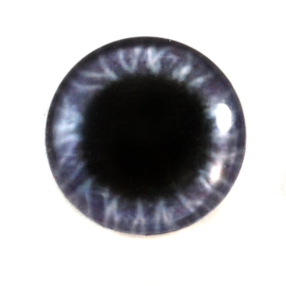 Wide Purple Glass Doll Eye