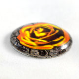 Golden Rose with Lace Glass Cabochon