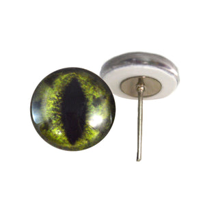 Alligator Glass Eyes on Wire Pin Posts