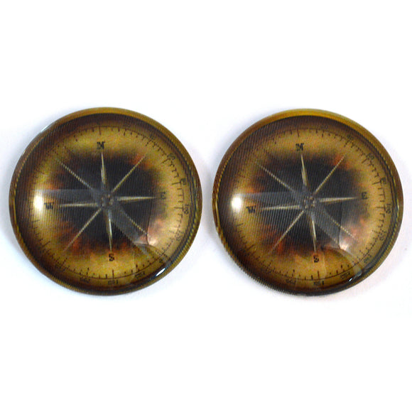 Vintage Compass Animated Glass Eyes