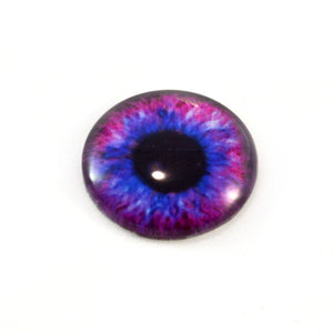 Blue and Pink Steampunk Glass Eye