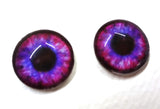 Blue and Pink Steampunk Glass Eyes
