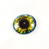 Blue and Yellow Fantasy Glass Eye