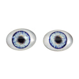 Blue Doll Oval Glass Eyes